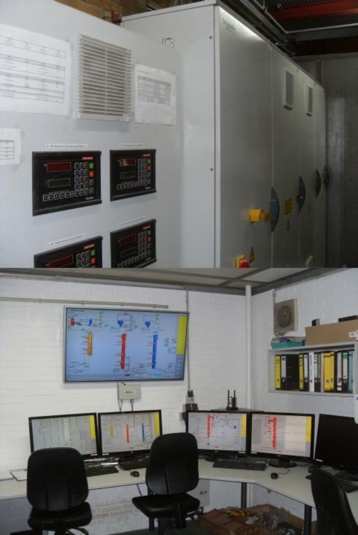 Control system of the MAGNUS test facility