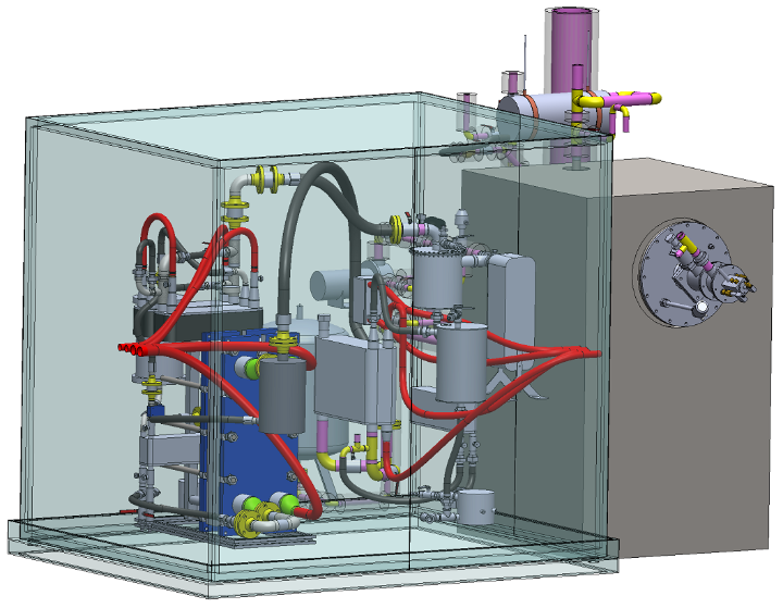 3D model of the BIO-COOL test rig